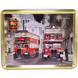 Stewart's Scottish Shortbread Tin: Two Vintage London Buses; 400g