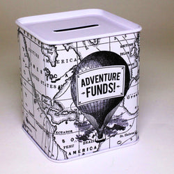 Adventure Funds Money Tin filled with Chocolate Drops
