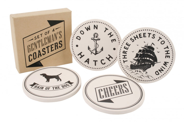 Set of 4 Gentleman's Coaster