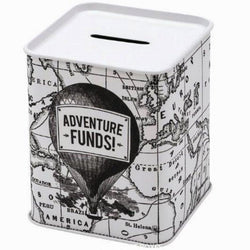 Adventure Funds! Money tin filled with chocolate drops