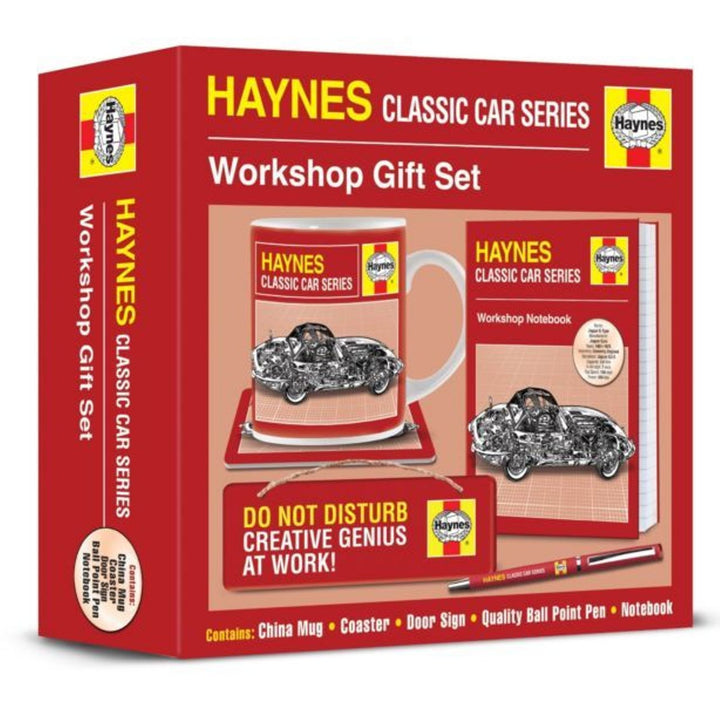 Haynes Manual Jaguar E-Type Classic Car gift set
