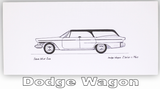 Pack of Four Classic Car Greetings Cards: Dodge Wagon