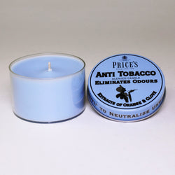 Price's candles: Odour Cancelling Candle Tin - Anti Tobacco