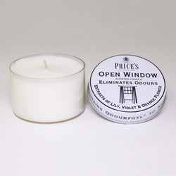 Price's candles: Odour Cancelling Candle Tin - Open Window