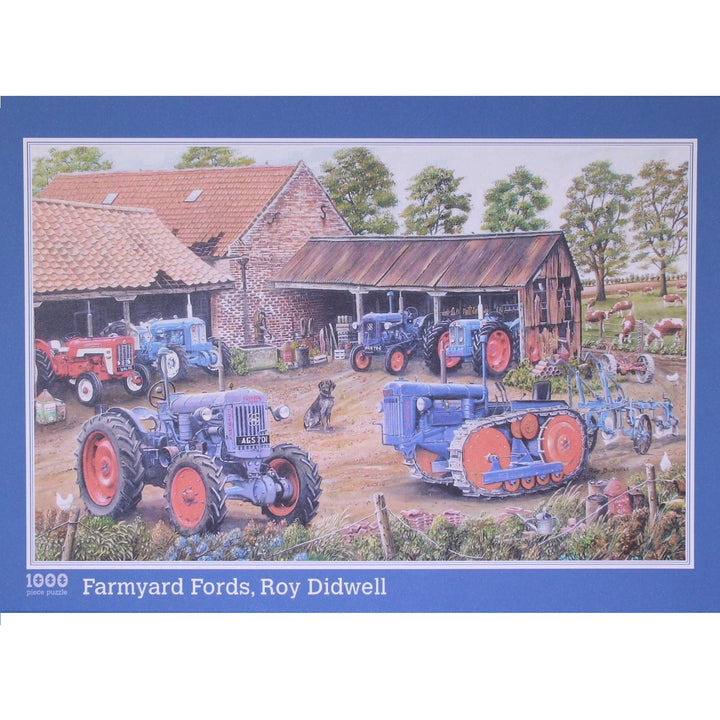 Farmyard Fords: 1000 Piece European Collection Jigsaw Puzzle