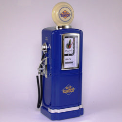 50s Style Gas Pump AM/FM Radio with Alarm Clock & Light by Steepletone, Blue