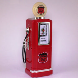 50s Style Gas Pump AM/FM Radio with Alarm Clock & Light by Steepletone, Red