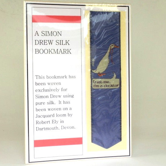 Ducktor Simon Drew Silk Bookmark
