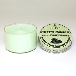 Price's candles: Odour Cancelling Candle Tin - Chef's