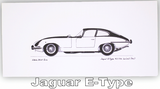 Pack of Four Classic Car Greetings Cards: Jaguar E-Type