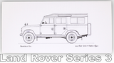 Pack of Four Classic Car Greetings Cards: Land Rover Series 3