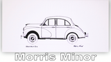 Pack of Four Classic Car Greetings Cards: Morris Minor