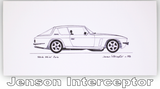 Pack of Four Classic Car Greetings Cards: Jenson Interceptor