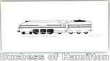 Pack of Four Train Greetings Cards: Duchess of Hamilton