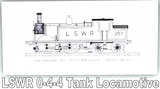 Pack of Four Train Greetings Cards: LSWR