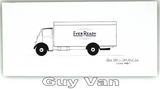 Pack of Four Buses & Trucks Greetings Cards: Guy Van