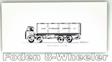Pack of Four Buses & Trucks Greetings Cards: Foden 8 Wheeler