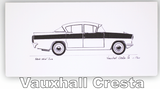 Pack of Four Classic Car Greetings Cards: Vauxhall Cresta
