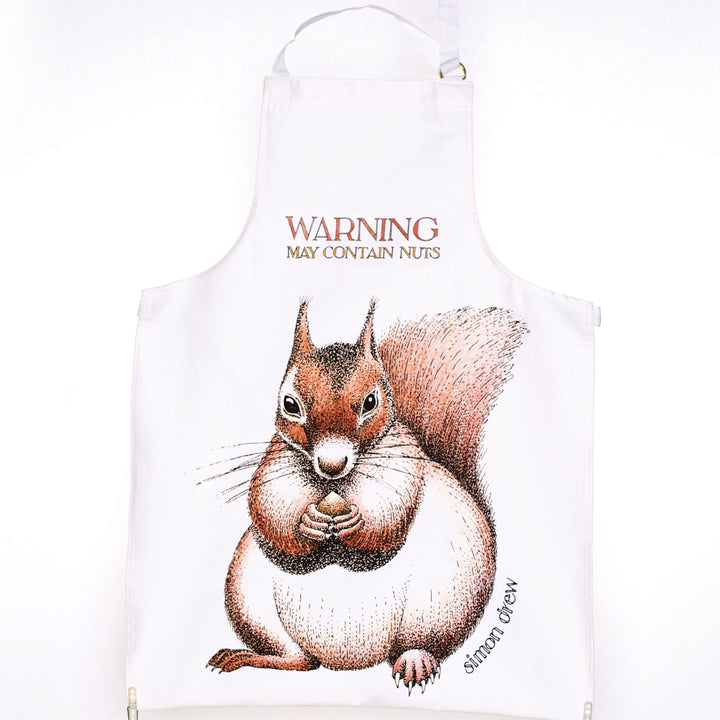 Warning Contains Nuts Apron