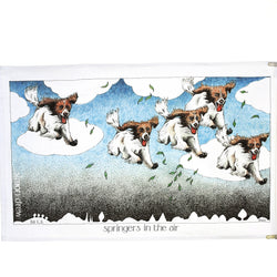 Springers in the Air Tea Towel