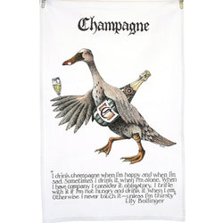 Champagne Quotation Tea Towel