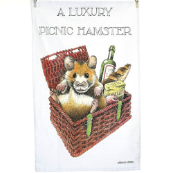 A Luxury Picnic Hamster Tea Towel