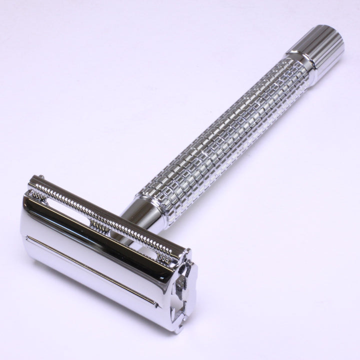 Long Handle Safety Razor, Twist Open Butterfly Style SHV64L