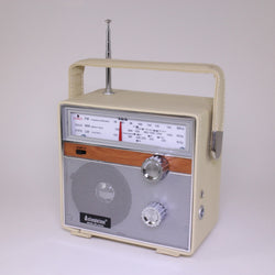 Heartbeat: 1960s Style Retro Radio, MW/AM/FM, Leather Case, AC/DC - Cream