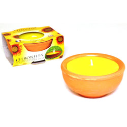 Price's Citronella Terracotta Pot with candle
