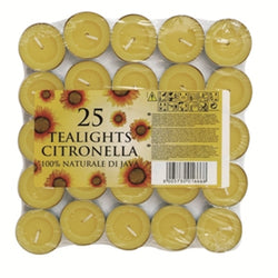Price's Citronella Tealights Pack of 25
