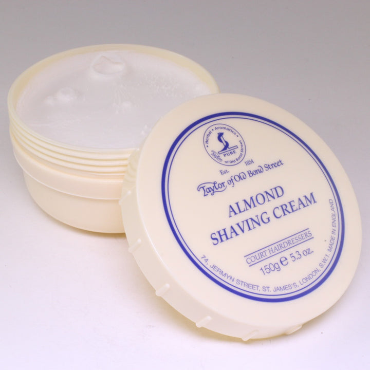 Taylor of Old Bond St Shaving Cream Tub: Almond