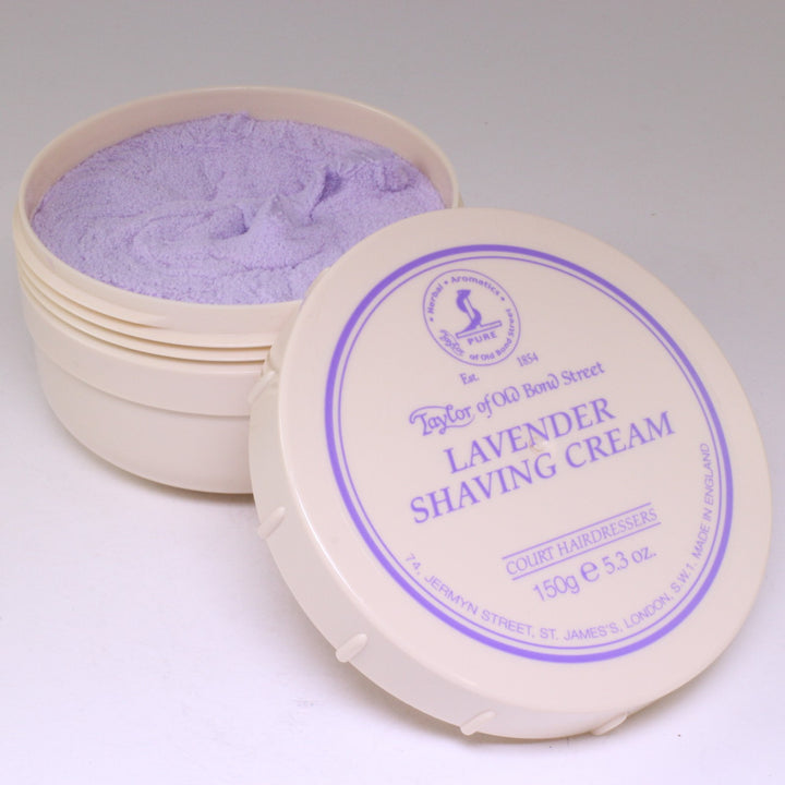 Lavender Luxury Shaving Cream Tub Taylor of Old Bond St