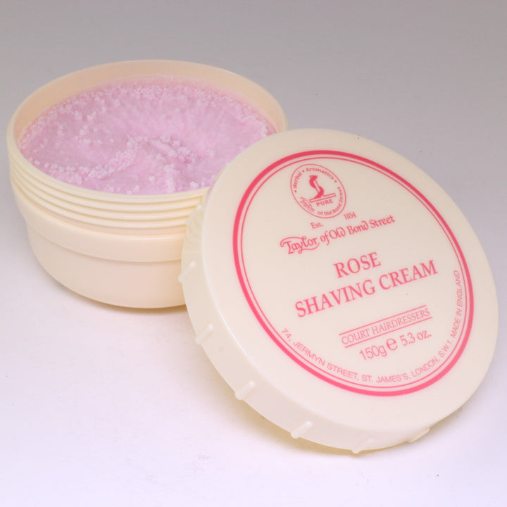 Rose Luxury Shaving Cream Tub 150g, Taylor of Old Bond St