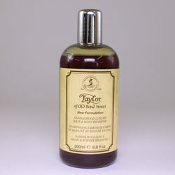 Sandalwood Luxury Hair & Body Shampoo 200ml, Taylor of Old Bond St