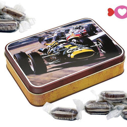 Vintage Car tin filled with Humbugs