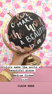 Virtual Show Sale: Colors Make the World a beautiful place Medium globe