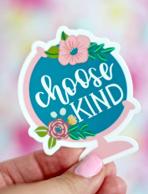 Choose Kind, Globe Sticker