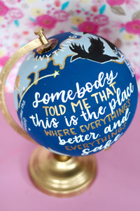 One Tree Hill, Painted Medium Globe