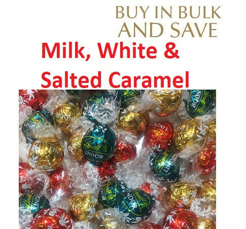Christmas Mix Lindor Lindt Ball (3 Flavours) Milk, White, Salted Caramel