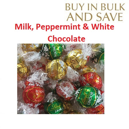 Christmas Mix Lindor Lindt Ball (3 Flavours) - Milk, White, Mint