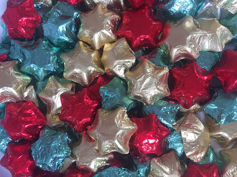 Christmas Stars - Red, Gold & Green