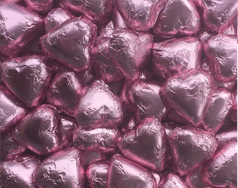 Light Pink Chocolate Hearts