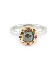 Load image into Gallery viewer, Cushion Cut Grey Diamond Ring