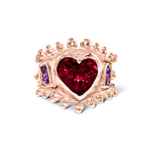 Load image into Gallery viewer, Ruby Heart Ring