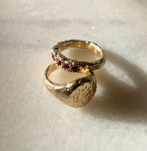 Load image into Gallery viewer, Decayed Gold Ring with Rubies