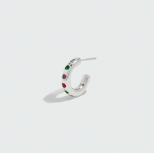 Load image into Gallery viewer, SILVER DEAREST HOOPS