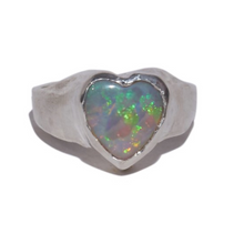 Load image into Gallery viewer, Heart Signet Ring (available in gold or silver)