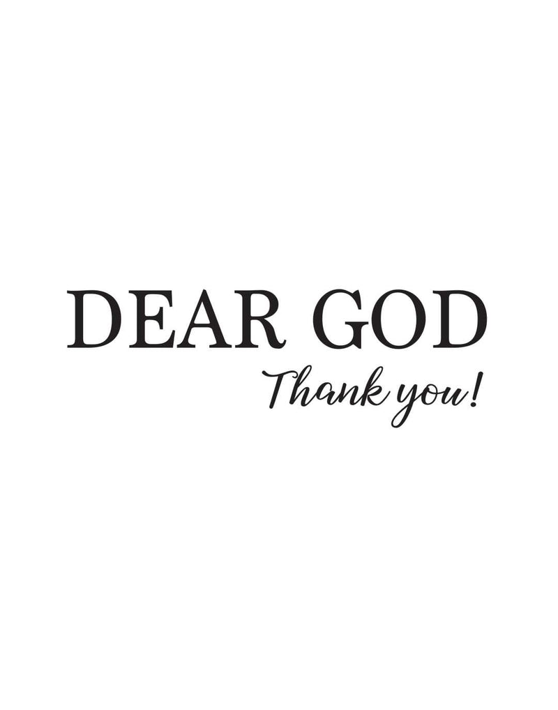 Dear god thank...