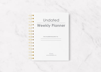 Undated Weekly Planner - Paper Umbrellas - This BAM Life