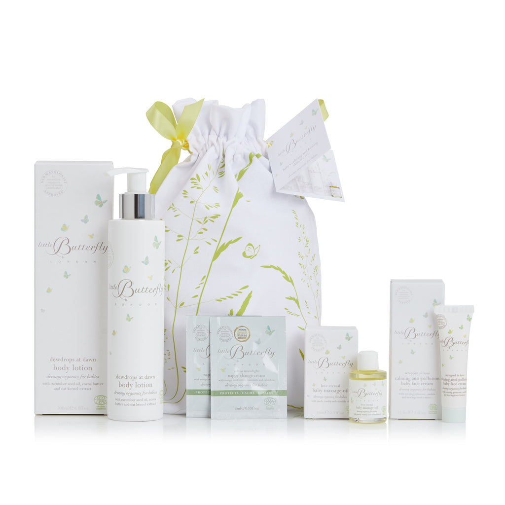 The Calm Heal Skincare Set 4 Baby Products Little Butterfly London